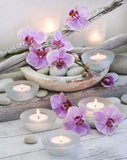 Purple Orchids & Candles - diamond-painting-bliss.myshopify.com