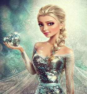 Realistic Elsa - Paint by Diamonds - diamond-painting-bliss.myshopify.com