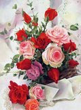 Rose Basket DIY Diamond Painting - diamond-painting-bliss.myshopify.com
