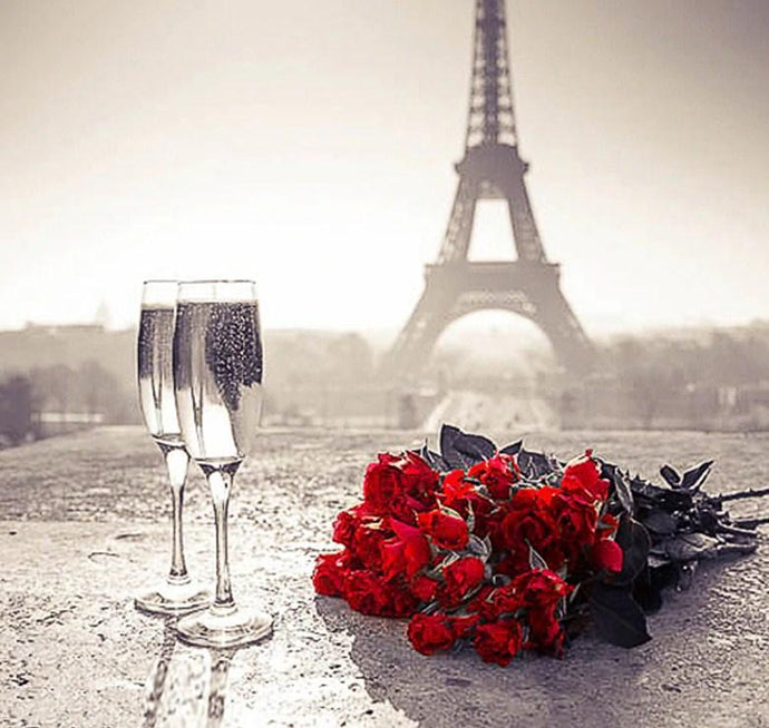 Roses & Eiffel Tower View - diamond-painting-bliss.myshopify.com