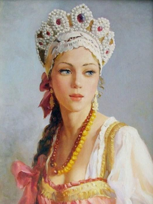 Russian Woman Diamond Painting Kit - diamond-painting-bliss.myshopify.com