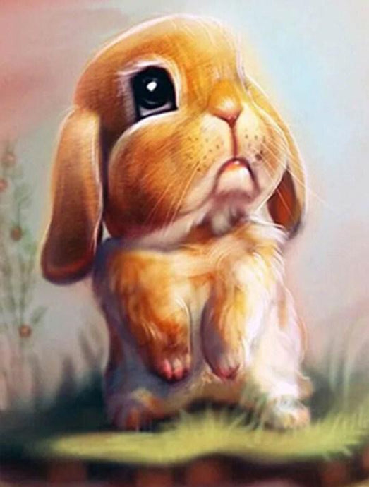 Sad Bunny - Diamond Painting Kit - diamond-painting-bliss.myshopify.com