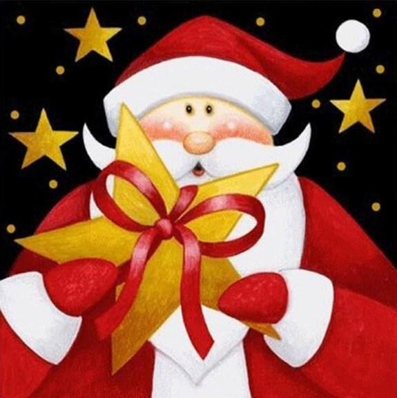 Santa Claus Christmas Card - diamond-painting-bliss.myshopify.com