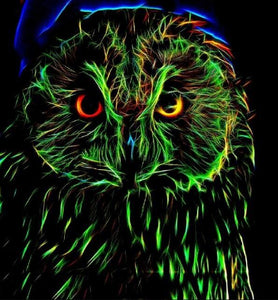 Screech Owl - Paint by Diamonds - diamond-painting-bliss.myshopify.com