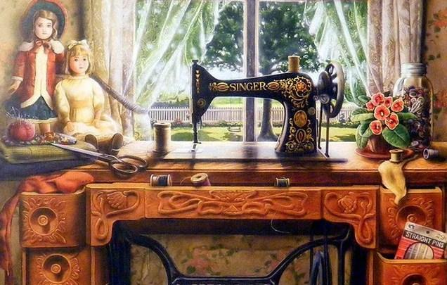 Sewing-machine 5D Diamond Painting - diamond-painting-bliss.myshopify.com