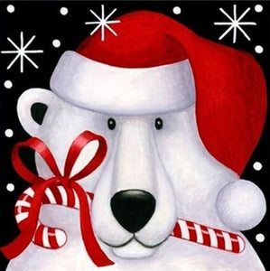 Snow Bear Christmas Card - diamond-painting-bliss.myshopify.com