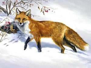 Snow Fox Diamond Painting Kit - diamond-painting-bliss.myshopify.com