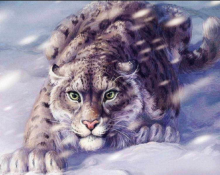 Snow Leopard Painting Kit - diamond-painting-bliss.myshopify.com