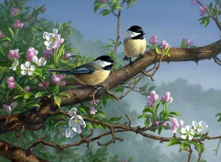 Sparrows on Tree - Diamond Painting Kit - diamond-painting-bliss.myshopify.com