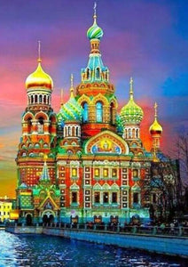 St Petersburg Cathedral Moscow - diamond-painting-bliss.myshopify.com