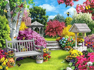 Beautiful Flowers Garden Painting Kit - diamond-painting-bliss.myshopify.com