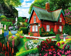 Stunning House & Blooming Garden - diamond-painting-bliss.myshopify.com