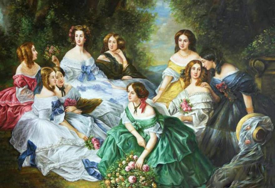The Empress Eugénie Surrounded by her Ladies - diamond-painting-bliss.myshopify.com
