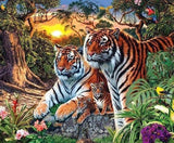 Tiger Family in the Forest - diamond-painting-bliss.myshopify.com