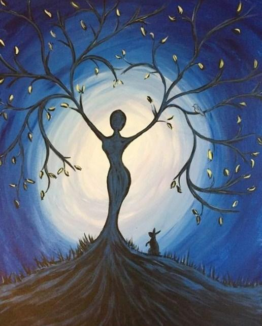 Tree Lady - Paint with Diamonds - diamond-painting-bliss.myshopify.com