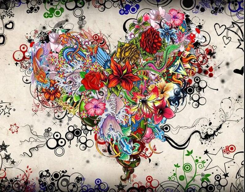 Valentine Floral Heart - diamond-painting-bliss.myshopify.com