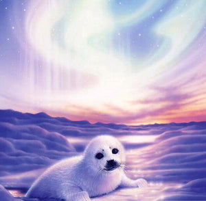 White Seal DIY Painting Kit - diamond-painting-bliss.myshopify.com