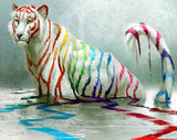 White Tiger in Colorful Paints - diamond-painting-bliss.myshopify.com