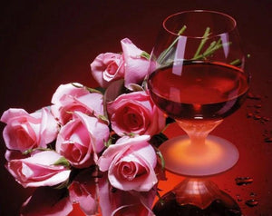 Wine & Roses Painting Kit - diamond-painting-bliss.myshopify.com