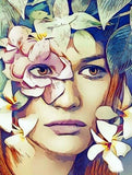 Woman Floral Art - diamond-painting-bliss.myshopify.com