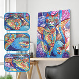 2Pcs Colorful Cat Painting
