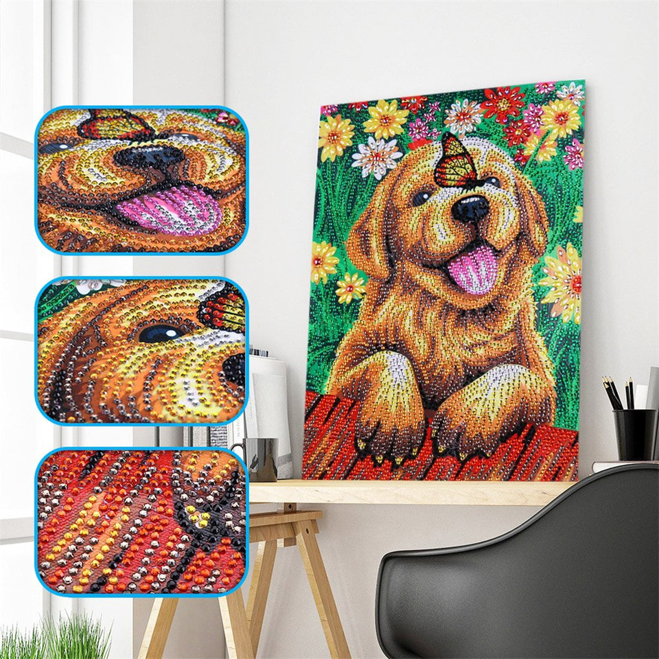 2Pcs Set Cute Colorful Dog And Butterfly