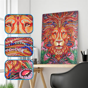 Colorful Loin Painting