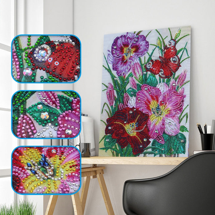 Colorful Embroidery Flowers