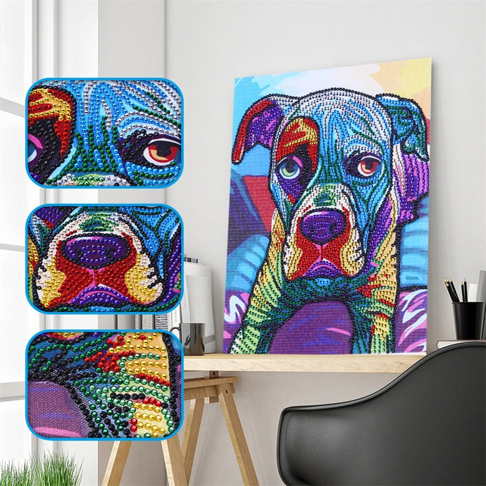Dog Colorful Painting