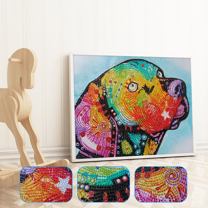Special Colorful Dog Painting