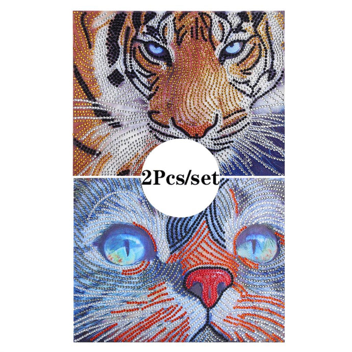 2Pcs Set Cat And Tiger