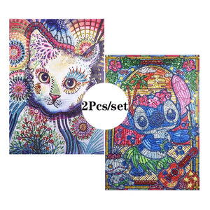 2Pcs Set Colorful Paintings