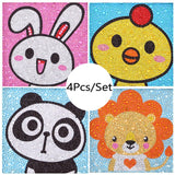 4 Pcs Set Cute Animals Paintings For Kids