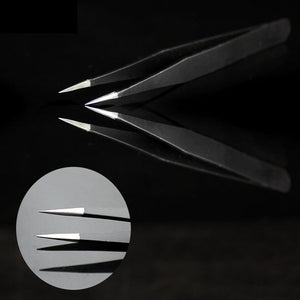 Stainless Steel Cross Tweezers - diamond-painting-bliss.myshopify.com