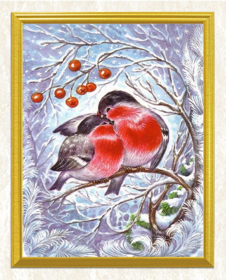 Pair of Lovely Birds DIY Painting - diamond-painting-bliss.myshopify.com