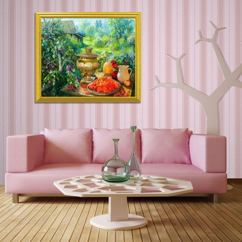 A Garden Picnic DIY Diamond Painting - diamond-painting-bliss.myshopify.com