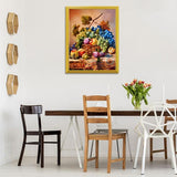Fruits Spilling Down of Basket Diamond Painting - diamond-painting-bliss.myshopify.com