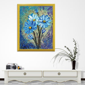 Flower Art DIY Diamond Painting - diamond-painting-bliss.myshopify.com