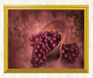 Red Grapes DIY Diamond Painting - diamond-painting-bliss.myshopify.com