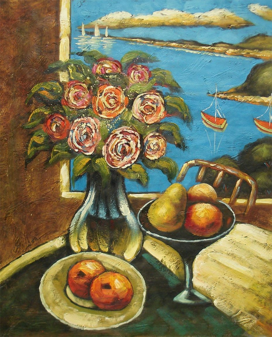 Still Life Roses & Fruits DIY Painting - diamond-painting-bliss.myshopify.com