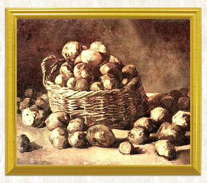 Potatoes in the Basket - Vincent Van Gogh - diamond-painting-bliss.myshopify.com