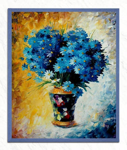 Blue Flowers - DIY Diamond Painting - diamond-painting-bliss.myshopify.com