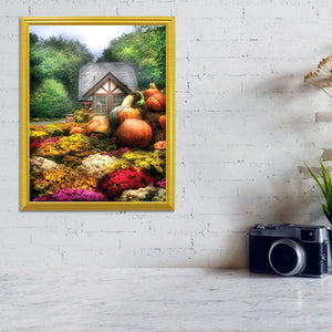 Pumpkin Garden DIY Diamond Painting - diamond-painting-bliss.myshopify.com
