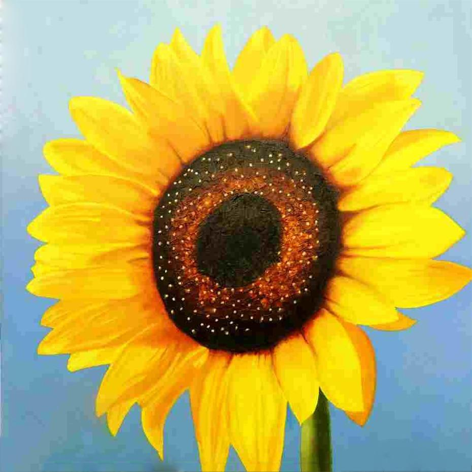 Yellow Sunflower Diamond Painting - diamond-painting-bliss.myshopify.com