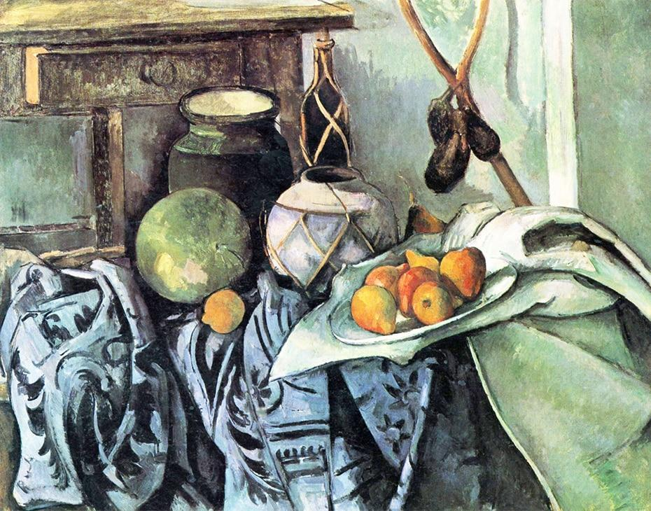 Still Life with a Ginger Jar & Eggplants - Paul Cézanne - diamond-painting-bliss.myshopify.com