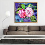Camellia Flowers - DIY Diamond Painting - diamond-painting-bliss.myshopify.com