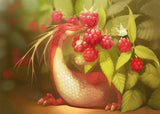 Raspberries & little Dragon Diamond Painting - diamond-painting-bliss.myshopify.com