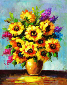 Colorful Flowers DIY Diamond Painting - diamond-painting-bliss.myshopify.com