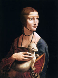 Lady with an Ermine - Leonardo da Vinci - diamond-painting-bliss.myshopify.com