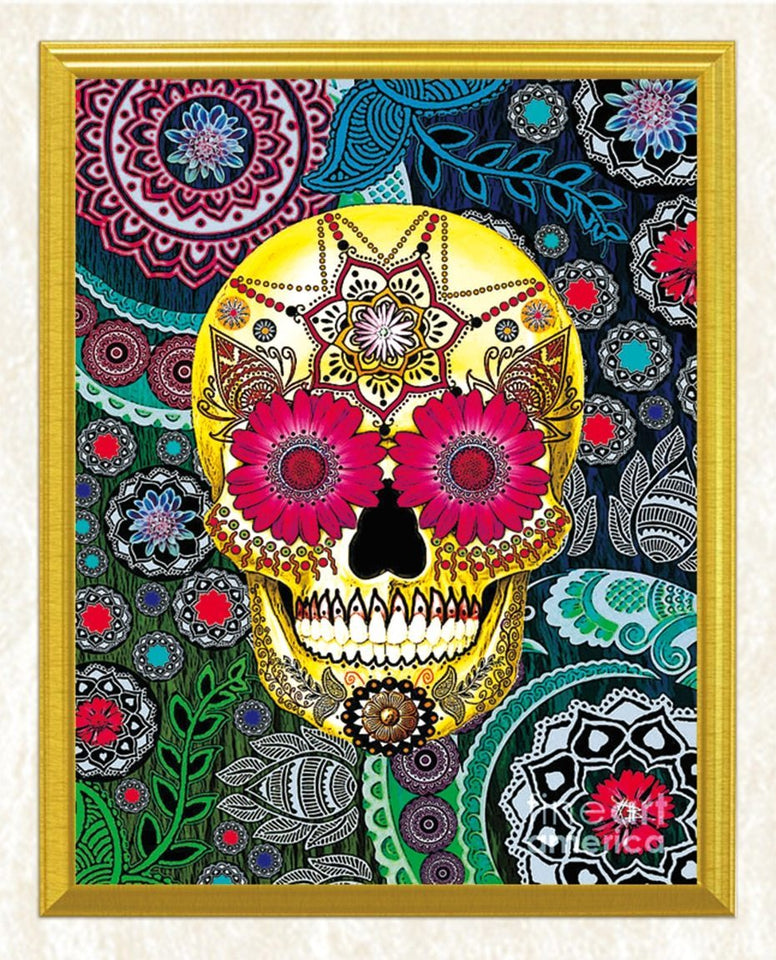 Sugar Skull Art DIY Diamond Painting - diamond-painting-bliss.myshopify.com